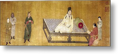 China Emperor And Prince Metal Print