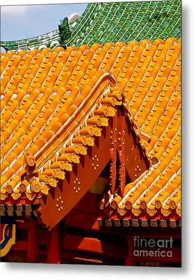 Metal Print featuring the photograph China Pavilion by Joy Hardee