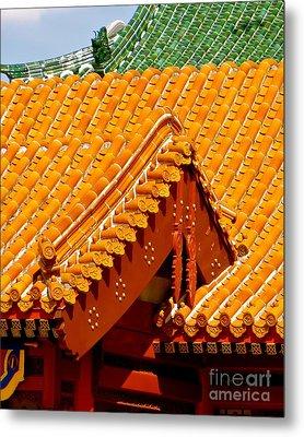 China Pavilion Metal Print by Joy Hardee