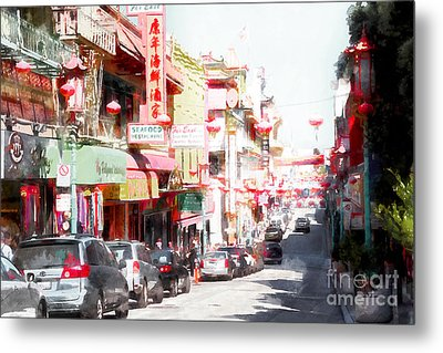 Chinatown Gate On Grant Avenue In San Francisco 7d7175wcstyle Metal Print