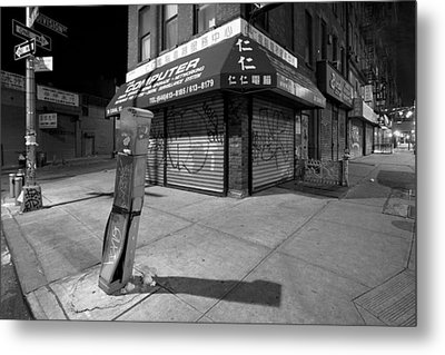Chinatown New York - Division And Ludlow Street Metal Print by Gary Heller