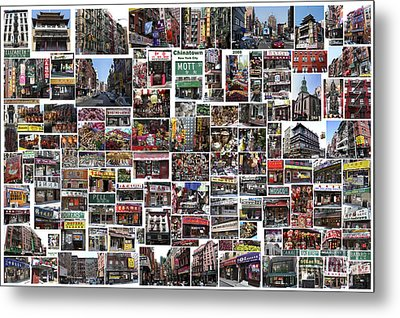 Metal Print featuring the digital art Chinatown  by Steven Spak