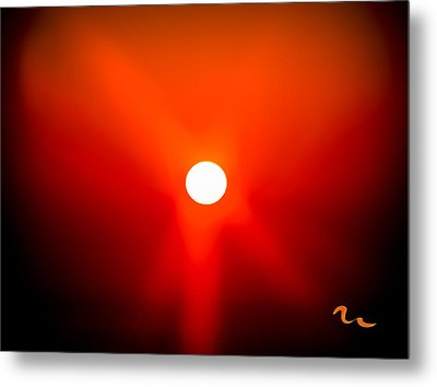 Chincoteague Sunset Metal Print by Mary Martin