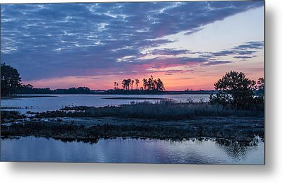 Chincoteague Wildlife Refuge Dawn Metal Print