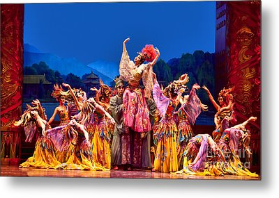 Metal Print featuring the photograph Chinese Ballet In Xian by Shirley Mangini
