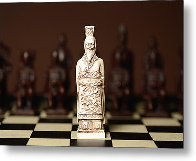 Chinese Chess King Metal Print by Dick Wood