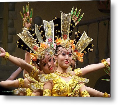 Chinese Dancers Perform Thousand Hands Guan Yin Metal Print