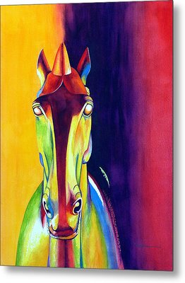 Chinese Dream Horse Metal Print