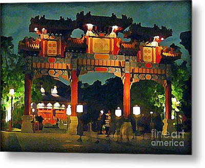 Chinese Entrance Arch Metal Print