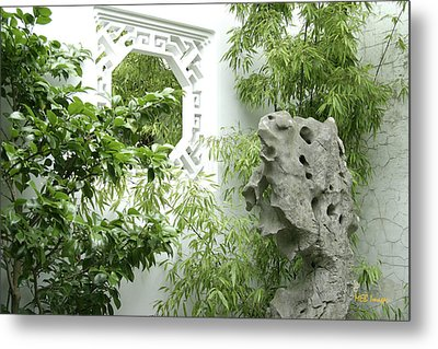 Metal Print featuring the photograph Chinese Garden by Margaret Buchanan