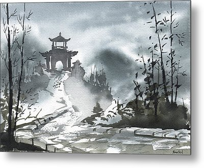 Metal Print featuring the painting Chinese Landscape by Sean Seal