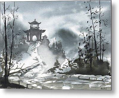 Chinese Landscape Metal Print