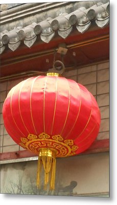 Metal Print featuring the photograph Chinese Lantern by Kay Gilley