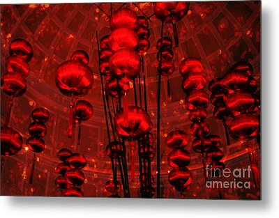 Metal Print featuring the photograph Chinese Lanterns by Julie Lueders