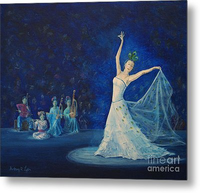 Chinese Peacock Dance-1 Metal Print