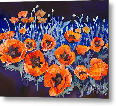 Poppies Pleasure And Pain Metal Print by Mike Hill