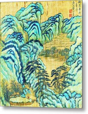 Chinese Teahouse 1730 Metal Print by Padre Art