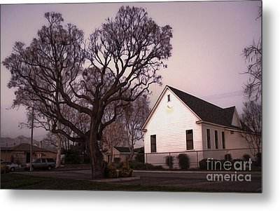 Chino Old School House At Dusk- 03 Metal Print by Gregory Dyer