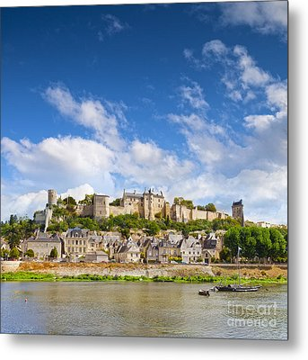 Chinon Loire Valley France Metal Print by Colin and Linda McKie