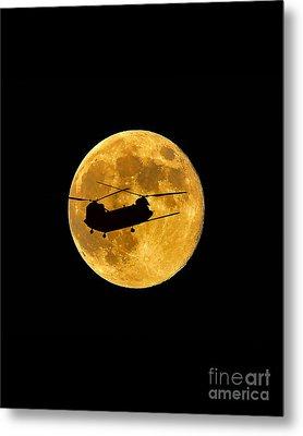 Chinook Moon Color Vertical Metal Print