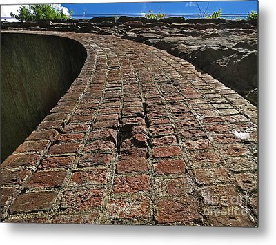 Chipmunks View Of A Stone Bridge Metal Print