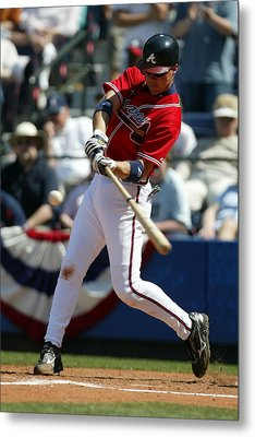 Chipper Jones Atlanta Braves Metal Print by Retro Images Archive