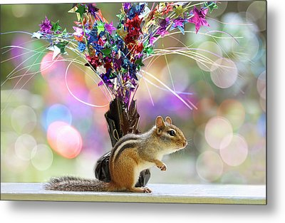 Chippy Party Time Metal Print by Peggy Collins