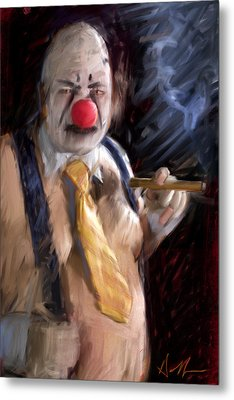 Chippy The Clown Metal Print by H James Hoff