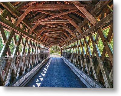 Chiselville Bridge Metal Print by Guy Whiteley