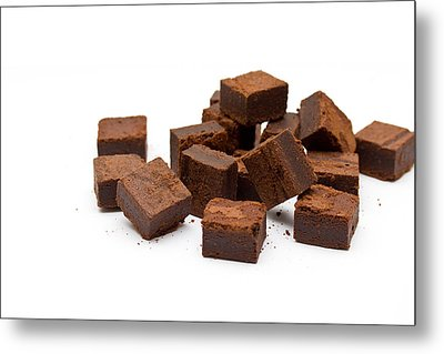 Chocolate Brownies Metal Print by Mike Taylor