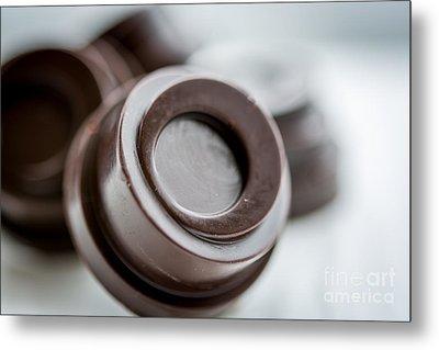 Chocolate Button - By Sabine Edrissi Metal Print by Sabine Edrissi