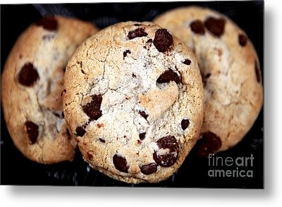 Chocolate Chip Cookies Metal Print by John Rizzuto