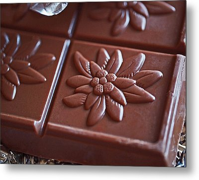 Chocolate Flower  Metal Print by Rona Black