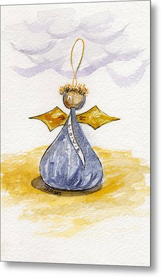 Chocolate Kissing Angel Metal Print