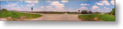 Choices At The Cross Roads Panorama Metal Print by Thomas Woolworth