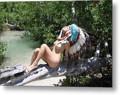 Chokoskee Island Fl. Indian 086 Metal Print by Lucky Cole