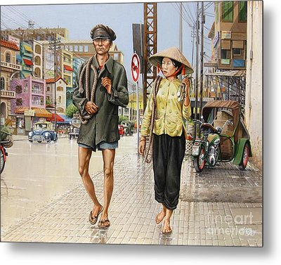 Metal Print featuring the painting Cholon '66 by Bob  George
