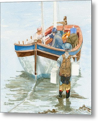 Metal Print featuring the painting Chop Wood Carry Water by Sandy Linden