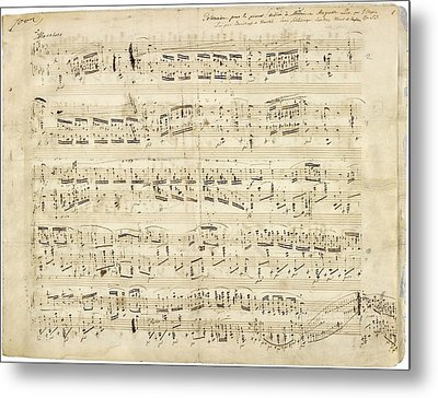 Chopin Polonaise Op 53 Metal Print by Photographic Art by Russel Ray Photos