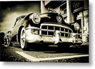 Chopped Cadillac Coupe Metal Print