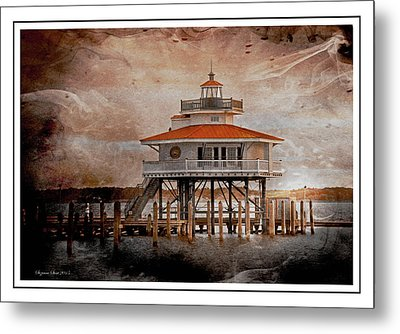 Choptank River Lighthouse Metal Print by Suzanne Stout