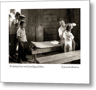 Metal Print featuring the photograph Chorti Maya Clinic by Tina Manley
