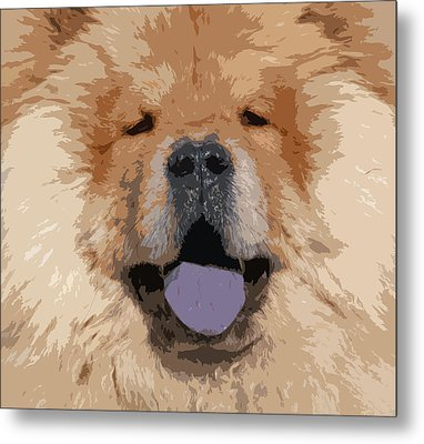 Chow Chow Metal Print by Nancy Merkle