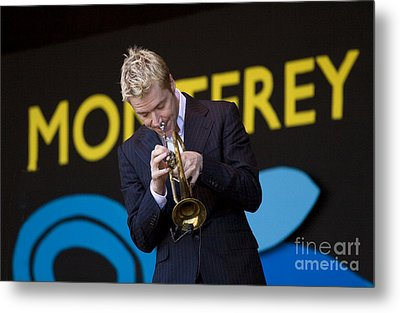 Chris Botti Plays Trumpet Metal Print