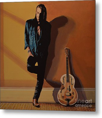Chris Whitley Metal Print by Paul Meijering