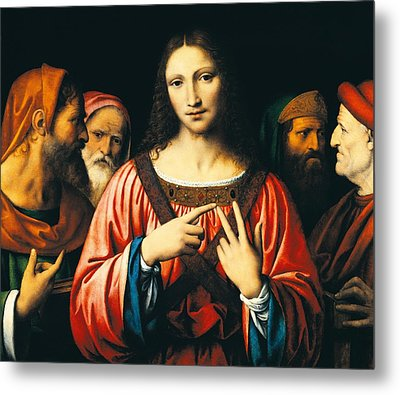 Christ Among The Doctors Metal Print by Bernardino Luini