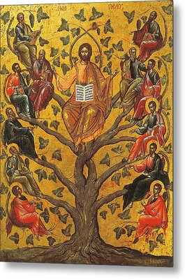 Christ And The Apostles Metal Print by Unknown