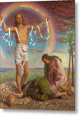 Christ And The Two Marys Metal Print by William Holman Hunt