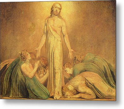 Christ Appearing To The Apostles After The Resurrection Metal Print by William Blake