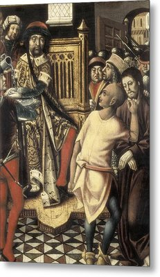Christ Before Pilate. 1476 - 1500. A Metal Print by Everett